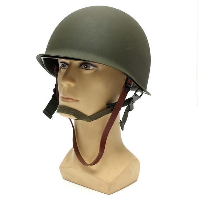US $31 12 36% OFF|WW2 US Military Steel ABS M1 Helmet Universal Portable  Military Steel M1 Helmet Tactical Protective Army Equipment Field-in  Helmets
