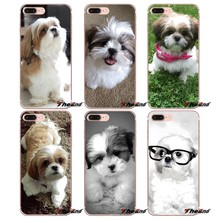 Fundas suaves con estampado de perro Shih Tzu Shitzu para iPhone X 4 4S 5 5S 5C SE 6 6 S 7 8 Plus, Samsung Galaxy J1 J3 J5 J7 A3 A5 2016, 2017(China)