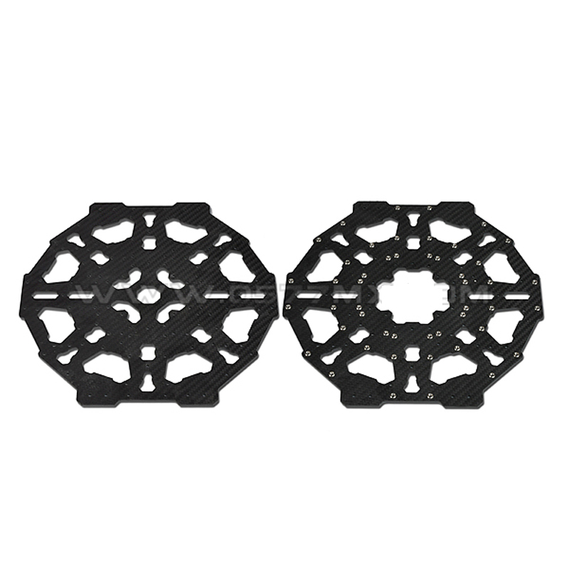 8-axis 3K pure Carbon Fiber Center Plate for 700-1000mm Octacopter Frame tator rc 3k carbon fiber plate 3 5mm tl2900
