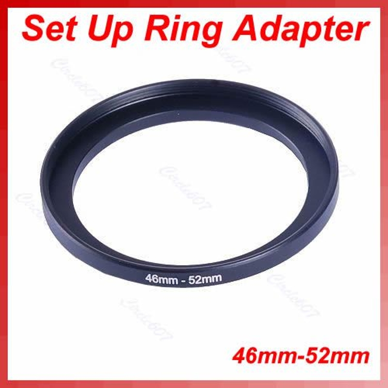 OOTDTY NEW Metal 46mm-52mm Step Up Lens Filter Ring 46-52 Mm 46 To 52 Stepping Adapter