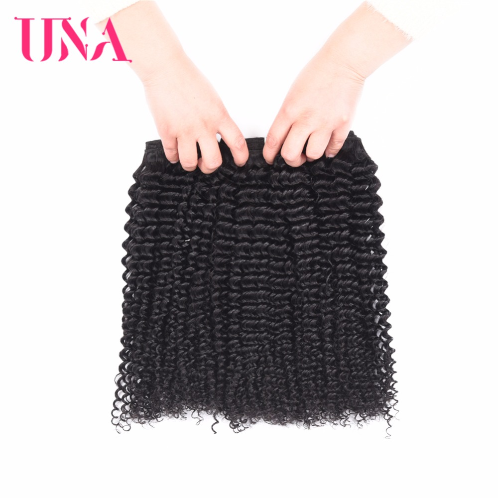 UNA HUMAN HAIR Brazilian Small Curly Hair 3 Bundles Deal Small Curly Brazilian Human Hair Bundles Non-Remy Human Hair Extension