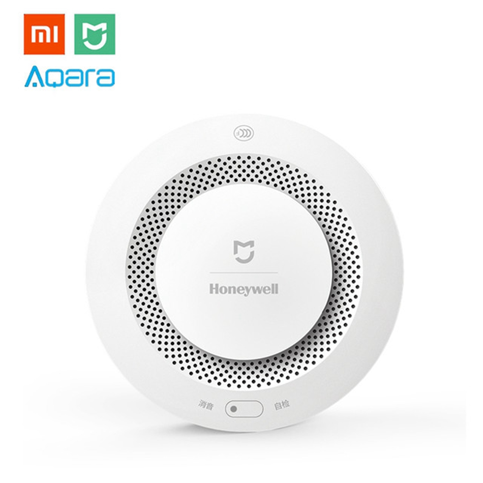 Xiaomi MIJIA Honey-well Aqara Smoke Alarm Detector Fire Protection Remote Alert Smart Home Kit for Mi Hone APP Gateway