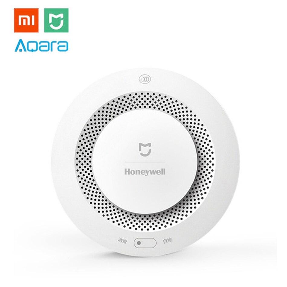 Xiaomi MIJIA Miel-bien Aqara Avertisseur De Fumée Détecteur D'incendie Protection Distance D'alerte Smart Home Kit pour Mi Parfaire APP passerelle