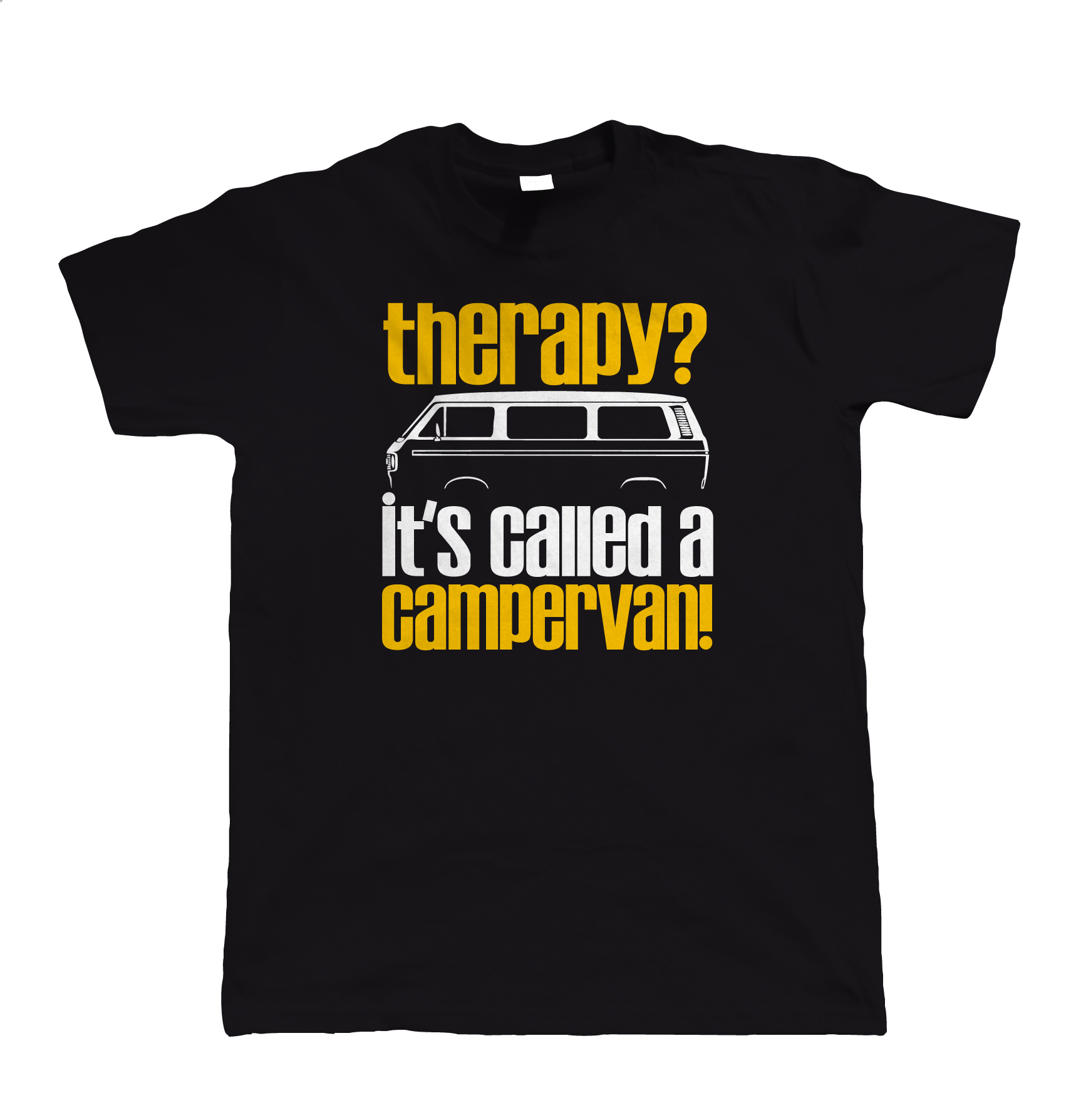 Therapy, Its Called A Campervan, Mens Funny T25 T Shirt - Gift for Him Dad Unisex Fashion T Shirt top tee