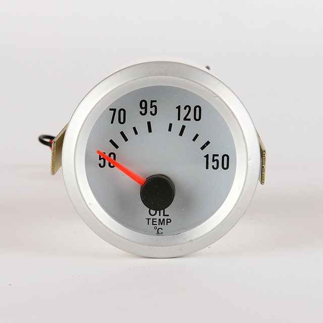 """car and motorcycle 2"""" 52mm LED Thermometer oil Temperature Temp Meter Gauge WITH SENSOR"""