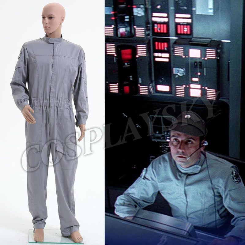 Star Wars Imperial Flightsuit Technician Jumpsuit Cosplay Costume Halloween Pilot Uniform For Man Adults