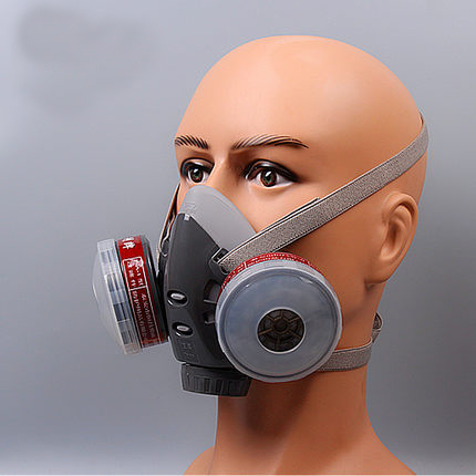 Masks Chemical Gas Dust Respirator Filter Mouth Activated Anti Fog Mask Carbon Haze Pm2.5 Pesticides Painting Spraying Filte yihu gas masks protective mask respirator against painting dust storms formaldehyde pesticides spraying mask