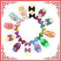 50 unids A022 2016 Nueva Llegada 12 Rhinestones del Color 3D Glitters Pajarita Uñas de Acrílico Negro Nave Libre del Precio Bajo