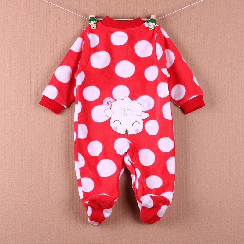 New Arrival Baby Footies Boys&Girls Jumpsuits Spring Autumn Clothes Warm Cotton Baby Footies Fleece Baby Clothing Free Shipping (28)