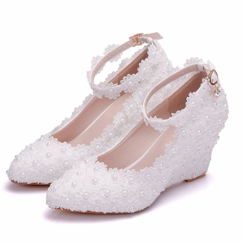 Size 34-41 Women Thick Heels Shoes Pointed Toe Ankle Strap Pumps Ladies Crystal Office Lady Party Wedding Footwear XY-A0142