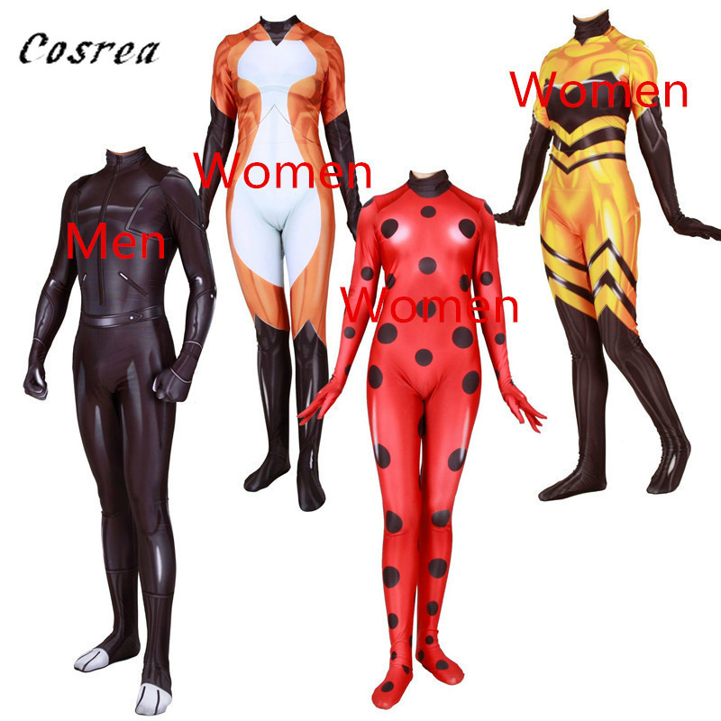 Anime Queen Bee Lady Bug Cat Noir Adrien Fox Cosplay Costume