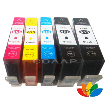 5 Compatible HP 655 hp655 ink cartridge FOR HP deskjet 3525 4615 4625 5525 6525 CZ109AE CZ110AE CZ111AE CA112AE