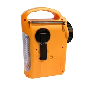 Image 4 - Outdoor Emergency Hand Crank Solar Dynamo AM/FM Radios Power Bank with LED Lamp