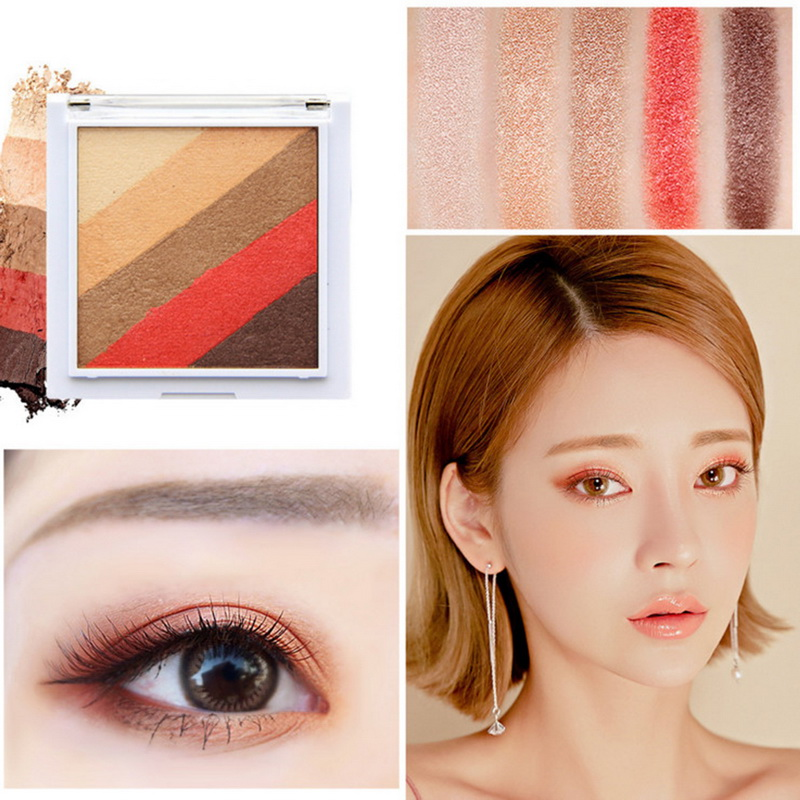 Inventive Novo 5 Colors Pressed Eyeshadow Palette Korean Style Makeup Eye Shadow Milk Tea Color Make Up Palette Beauty Women Cosmetics Available In Various Designs And Specifications For Your Selection Beauty & Health