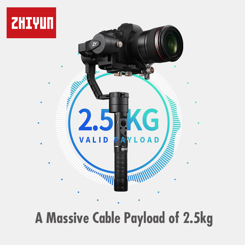 Zhiyun Crane Plus 3 Axis 3-Axis Handheld Gimbal Stabilizer for All Models of DSLR Mirrorless Canon 5D2/5D3/5D4 MINI DSLR Camera цена
