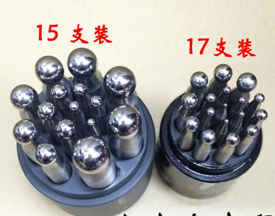 Jewelers Dapping Punches 17pcs Dapping Block Set jewelry tools and equipment