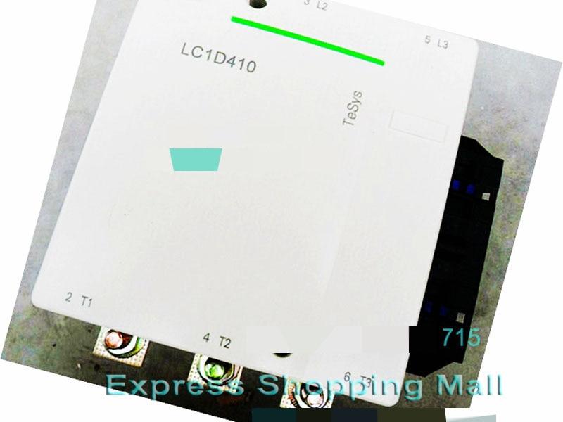 New LC1D410Q7C TeSys D Contactor 410A AC 380V 50/60Hz LC1-D410Q7C new cad32mdc dc220v tesys d series contactor control relay 3no 2nc