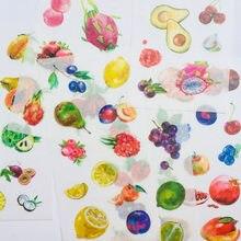 6 folhas Frescas Frutas Coloridas De Papel Washi Decorativo Adesivos Notebook Computador Decoração
