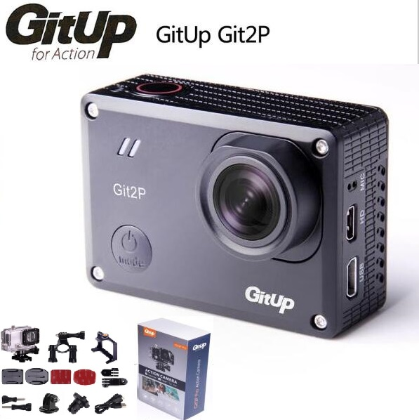 Prix pour Camera Action deportiva D'origine GitUp Git2 P Novatek 96660 à distance Ultra HD 2 K WiFi 1080 P 60fps sport pro caméra F18818