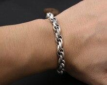 100% 925 Silver Chain Bracelet Vintage 925 Sterling Man Bracelet Pure Silver Lucky Symbol Bracelet 925 sterling silver bracelet virgin mary male bracelet 057913w