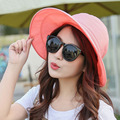 2016 Summer Hats For Women  Feminino New fashion Outdoors Visors Cap Sun Collapsible hat 6 colors