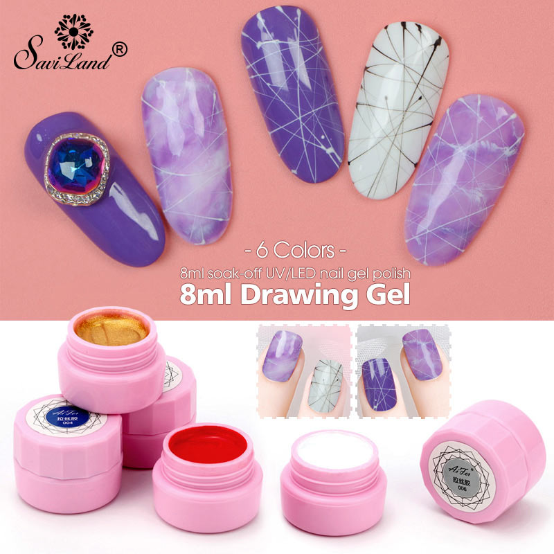Beauty & Health Nail Gel Creative Plastic Silk Drawing Spider Nail Gel Point To Line Painting Gel Lacquer Varnish Pulling Silk Spider Nail Art Gelpolish