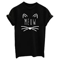 Summer Women S Casual Letters Printed T Shirt Short Sleeves Cotton Tees Tops Milk Silk Women