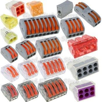 цена на 10pcs PCT-212 PCT-213 PCT-214 PCT-215 PCT-218 PCT-103D Universal Compact Wire Wiring Connector  Conductor Terminal Block Lever