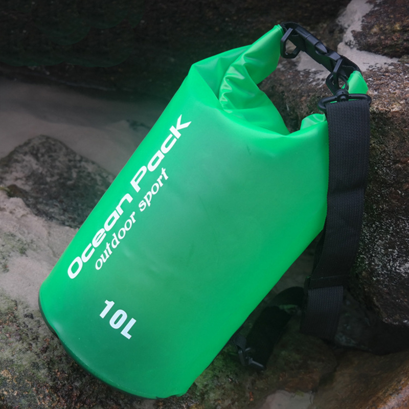 Купить с кэшбэком 2L 5L 10L Translucent Waterproof Bag Storage Dry Bag Swimming Bag for Canoe Kayak Rafting Sports Outdoor Camping River Trekking