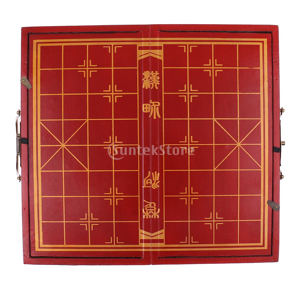 Portable Vintage Chess Chinese Traditional XiangQi Wooden Folding Chessboard Resin Chess Pieces Collectible Handicraft Gift готовые шторы gu xiangqi