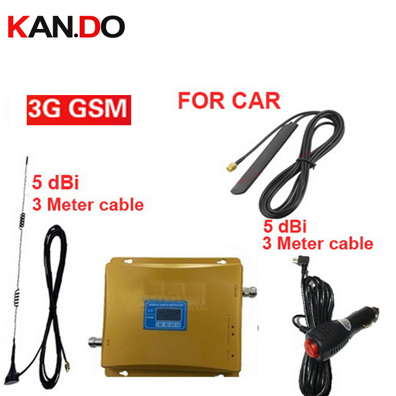 Car Use Dual Band Booster GSM900 Mhz 3G WCDMA 2100Mhz Booster 3G Repeater For Car,GSM 3G Repeater Signal Booster LCD Display