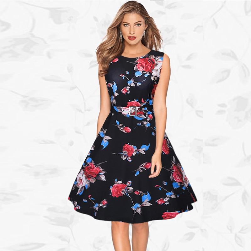 c24fccfac Tangnest verano de las mujeres vestidos casuales 2017 nuevo diseño estilo  sashes decorado imprimir lovely señoritas linda dress wqx447 en Vestidos de  La ...
