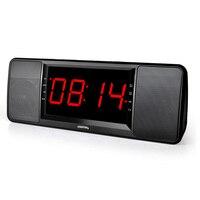 2015 New LCD Digital Display Wireless Bluetooth Speaker FM Radio Dual Alarm Clock TF Bluetooth Stereo