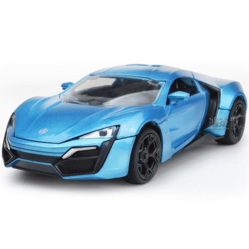 1:32 Lycan Alloy Cars Static Model Sports Car Dubai Supercar Pull Back Light Sound Children Kid Toys