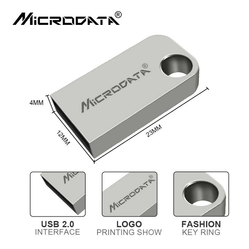 Super Mini métal USB lecteur Flash stylo 4gb 8gb 16gb 32gb 64gb noir argent couleur micro mémoires bâtons USB 2.0 lecteur de pouce clé USB