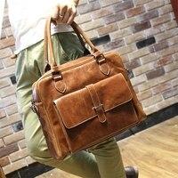 Men S Soft Leather Business Notebook Bag 14 Laptop Handbag For Macbook 13 3 Leather Shoulder