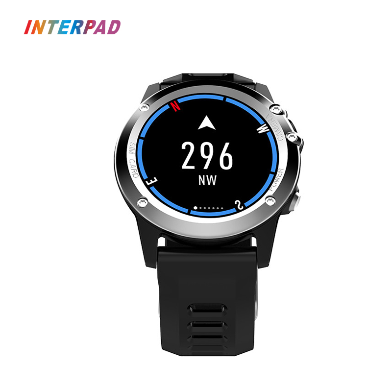 2018 Interpad 3G GPS WIFI Smart Watch MTK6572 5.0M HD Camera Smartwatch Support APP Download Waterproof Compass For iOS Android ...