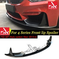 M3 M4 carbon fiber front bumper lip chin spoiler with removable side splitter for bmw m3 m4 f82 & convertible coupe MP Style 13+