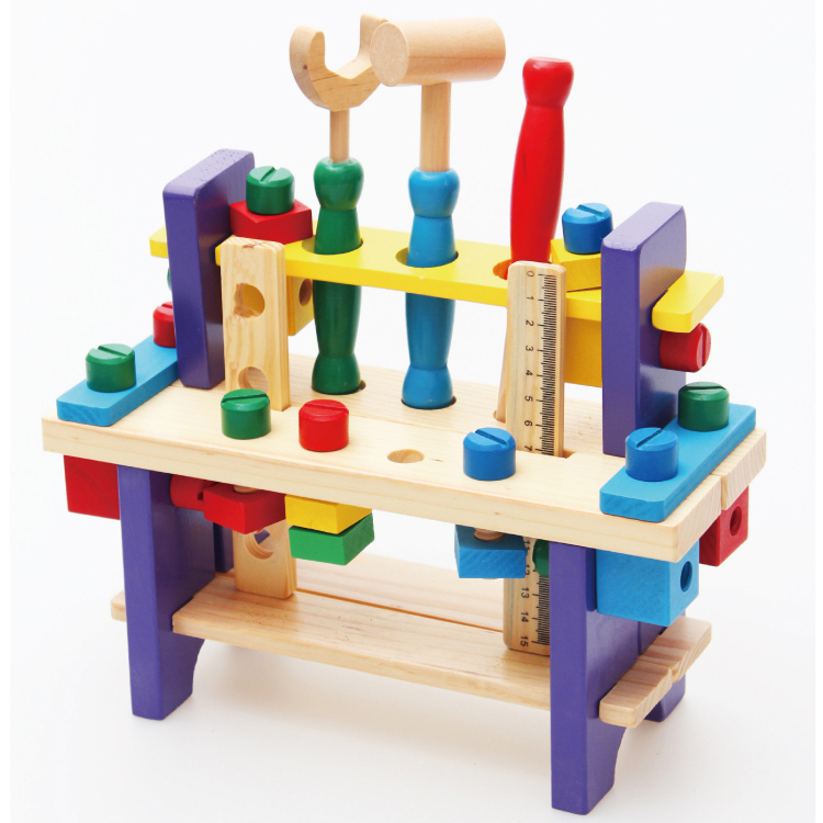 2016 Hot Sale Direct Selling Chair Tools for Children Wooden Multifunctional Working Table Tools Set Toy Model Building Kits