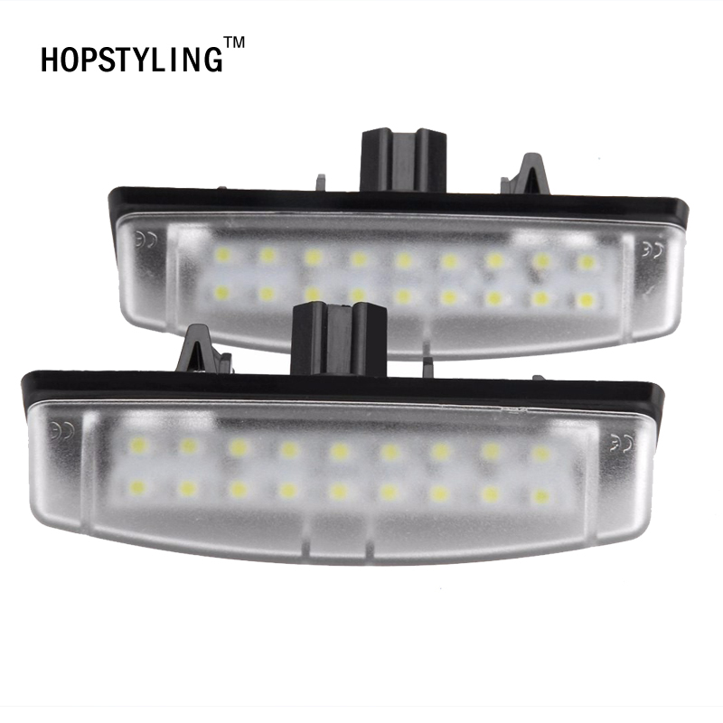 HOPSTYLING 2x Xenon White Error Free  LED For Toyota Camry LED License Plate light  car styling auto Accessories automotive 2pcs set led license plate light error free for bmw e39 e60 e61 e70 e82 e90 e92 24smd xenon white free shipping