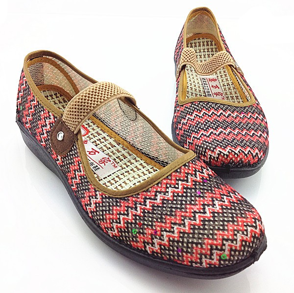 a3d47695a1b5 mother Summer comfortable flat slip-resistant shoes old women single shoes  senior ladies casual shoes elderly flats