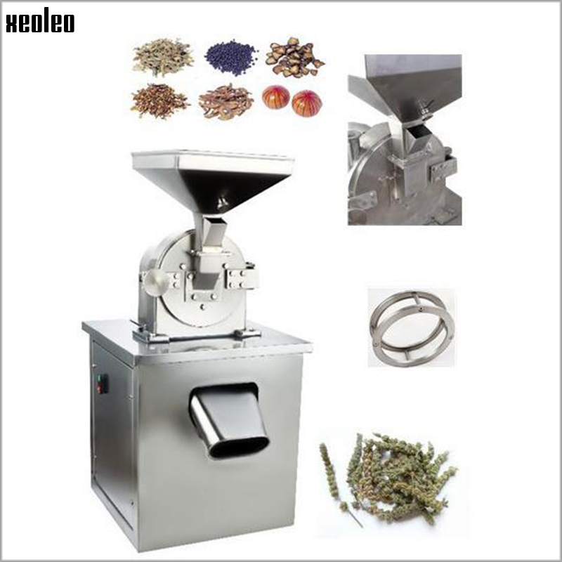 Xeoleo Multifunction Commercial Grinder Whole grains/Traditional Chinese medicine Corn milling machine Wheat grinding machine stored wheat grains