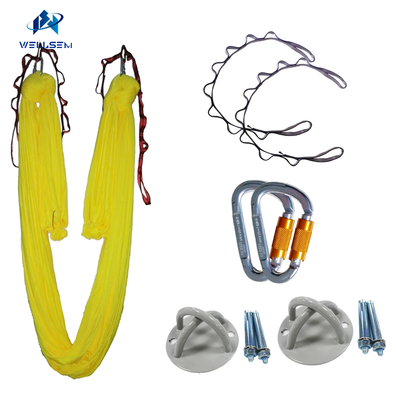 TOP quality 4meter Aerial Anti-Gravity Yoga Hammock +auto-lock carabiner +daisy chain +celling x mount,Inversion Traction touch