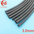 1 m Heat Shrink Tubing Heatshrink Sleeving Kit Cabo de Fio Envoltório Preto Diâmetro Interno do Tubo de 3mm