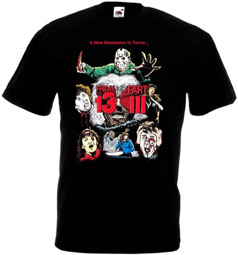 Friday The 13 v38 T-Shirt all sizes S-5XL BLACK