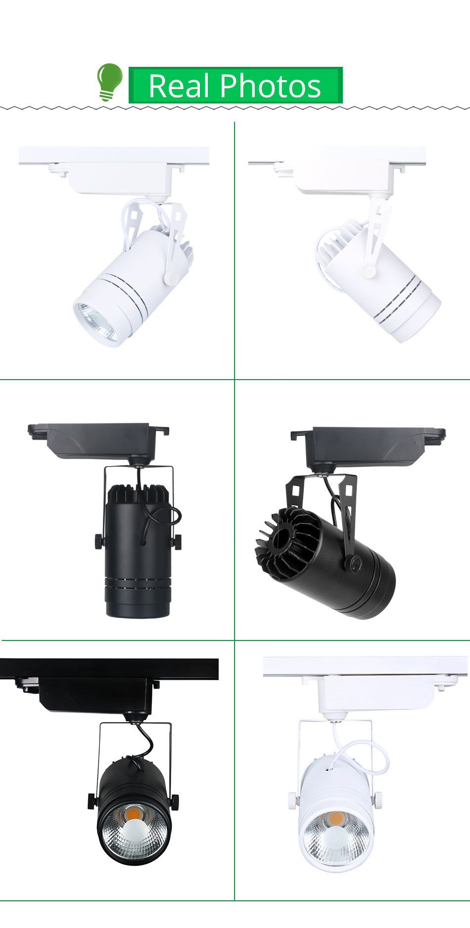 LED Tracking Light Dimmable 15W Spot Rail Lamp Clothing Shoe Store Shop Showroom Focusing Fixtures Spotlights Lights Lighting  (1)