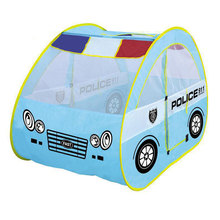 BOHS Toy Tent Police Patrol Car for kids Foldable Tent with Car Shape Cute and Portable fun place for Children