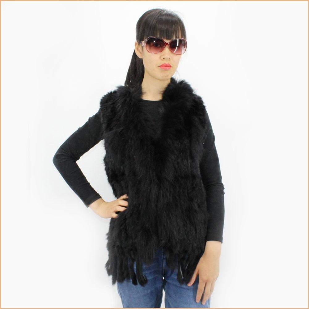 De À Cinq Naturel Réel Lapin Gilet Blanc Laveur Collier Motif Black Raton Mode Femmes Étoile Branches Fourrure Avec QhrxBtdCs