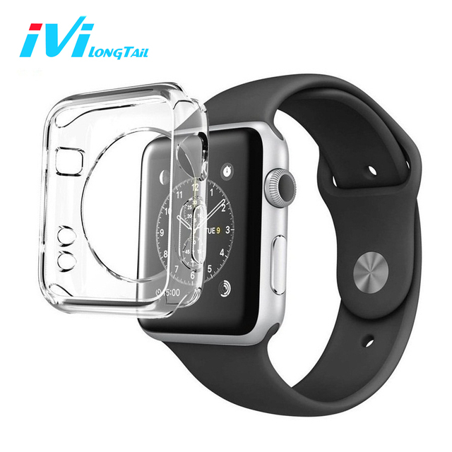 official photos 8c6d9 508c3 For Apple Watch Case Series 3 1 2 38mm 42mm Cover TPU Soft Transparent  Protective Clear Cases Covers Invisible for iwatch 3 1 2-in Fitted Cases  from ...
