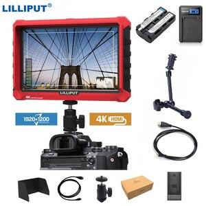 Image 1 - Lilliput A7s 7 인치 1920x1200 HD IPS 스크린 500cd/m2 카메라 필드 모니터 DSLR 미러리스 카메라 용 4K HDMI 입력 출력 비디오
